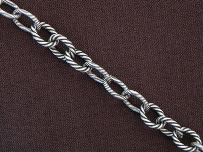 Antique Silver Colored Chain Style #67 Priced By The Foot