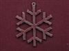 Rusted Iron Snowflake Pendant