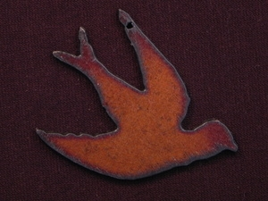 Rusted Iron Dove Pendant