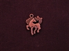 Charm Antique Copper Colored Prancing Horse