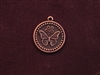 Charm Antique Copper Colored Butterfly Medallion