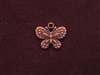 Charm Antique Copper Colored Dotted Butterfly