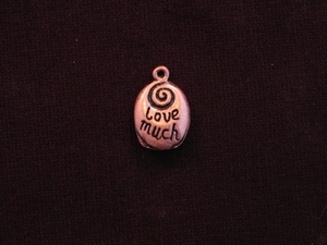 Charm Antique Copper Colored Laugh Often Love Much Drop