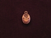 Charm Antique Copper Colored Follow Your Heart Drop