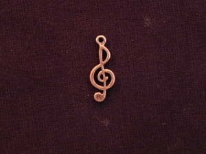Charm Antique Copper Colored Treble Clef