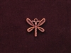 Charm Antique Copper Colored Large Dragon Fly
