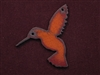 Rusted Iron Hummingbird Pendant