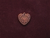 Charm Antique Copper Colored Heart With Heart Medallion
