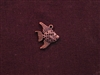 Charm Antique Copper Colored Fish