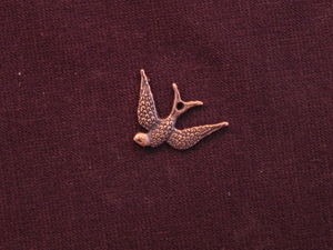 Charm Antique Copper Colored Dove