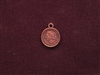 Charm Antique Copper Colored Coin