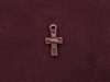 Charm Antique Copper Colored Wire Cross