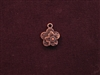 Charm Antique Copper Colored Flower On Flower