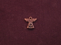 Charm Antique Copper Colored Angel With Bezel