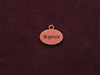 Charm Antique Copper Colored Rejoice