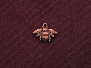 Charm Antique Copper Colored Bumble Bee