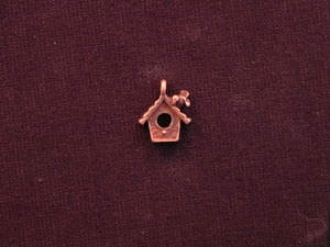 Charm Antique Copper Colored Bird House