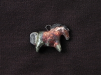 Clay Horse Bead (Raku Finish)