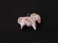 Clay Horse Bead (Distressed Cream Finish)