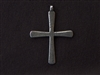Vintage Replica Plain Cross Antique Silver Colored Pendant