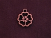 Charm Antique Copper Colored Large Open Flower