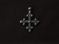 Vintage Replica Dotted Cross Antique Silver Colored Pendant