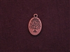 Charm Antique Copper Colored Oval Tree Of Life