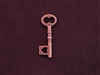 Charm Antique Copper Colored Large Key With Heart