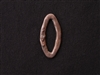 Pewter Oval Connector With Heart Antique Copper Colored