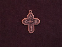 Charm Antique Copper Colored Ancient Cross