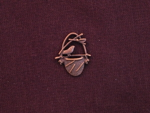 Charm Antique Copper Colored Birds Nest