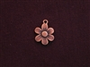 Charm Antique Copper Colored Button Flower