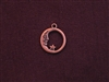 Charm Antique Copper Colored Moon And Star In Circle