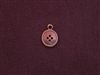 Charm Antique Copper Colored Button