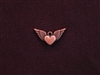 Charm Antique Copper Colored Heart With Wings
