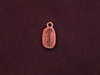 Charm Antique Copper Colored Remember