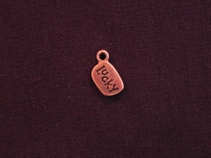 Charm Antique Copper Colored Lucky
