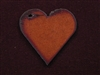 Rusted Iron Heart With Side Hole Pendant