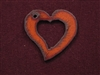 Rusted Iron Funky Heart Cut Out Pendant