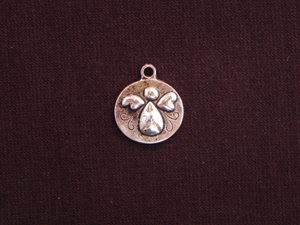 Charm Silver Colored Chubby Angel Tag