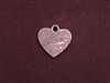 Charm Silver Colored Heart With Inspirations