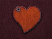 Rusted Iron Funky Heart Pendant
