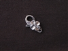 Lobster Clasp Silver Colored Hawaiian Flower