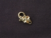 Lobster Clasp Gold Colored Hawaiian Flower