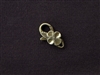 Lobster Clasp Antique Bronze Colored Hawaiian Flower