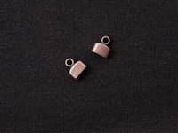Cord End Plain Flat Antique Copper