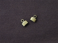 Cord End Plain Flat Antique Bronze