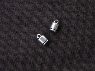 Cord End Round Silver