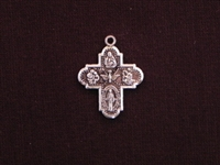 Charm Silver Colored Ancient Cross