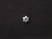 Metal Flower Bead Silver Colored